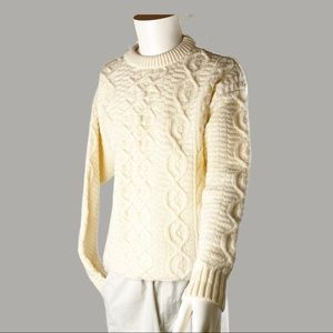 Oliver Harding Wool Chunky Cable Knit Sweater